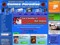 Internetový obchod GamesParadise - hry a herní konzole