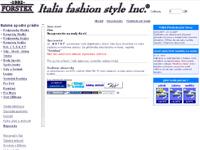 Internetový obchod Italia fashion style Inc.