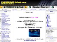 Internetový obchod Pneuservis Kabek