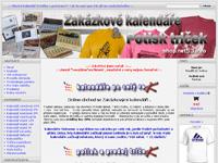 Internetový obchod Shopnet53 - zakázkové kalendáře a potisk triček